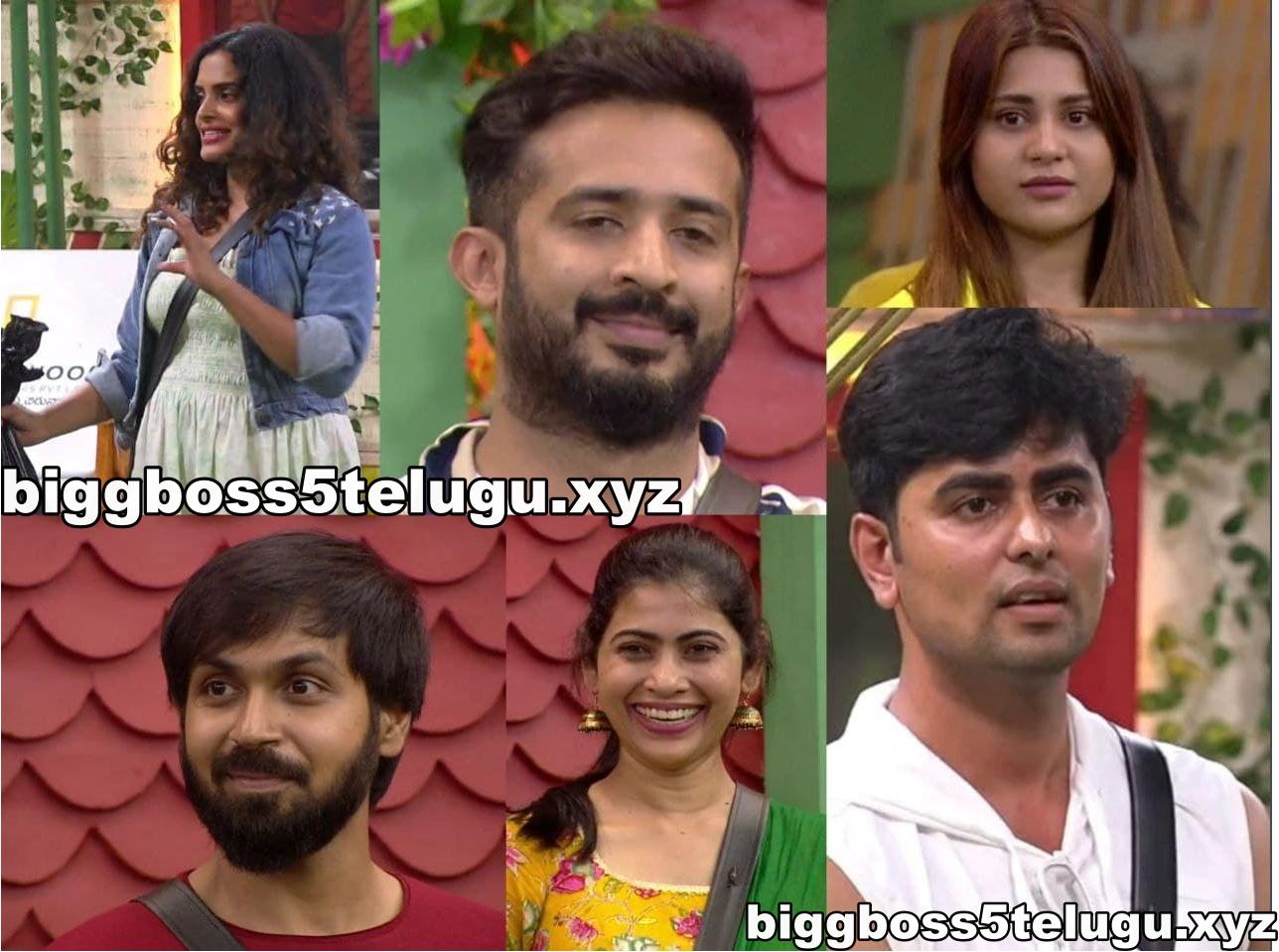 first week nominated contestants bigg boss 5 telugu